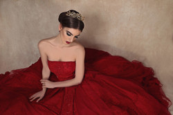 Red Sea lace gown