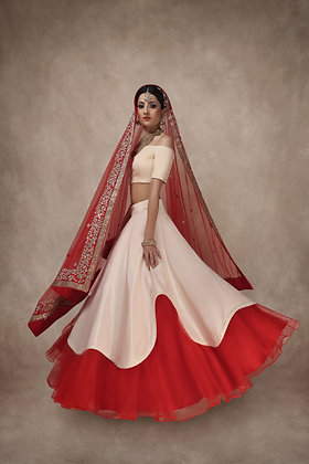 The Off-Shoulder Wave Lehenga