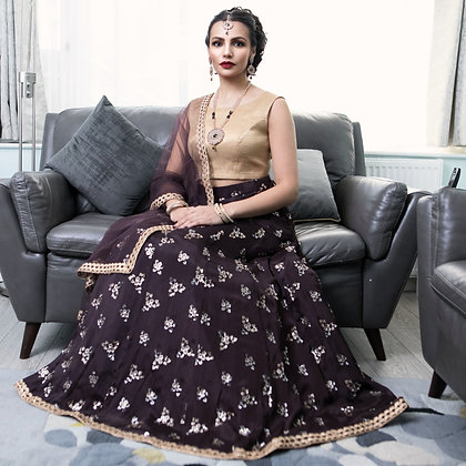 Sequined lehenga outfit