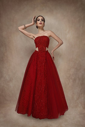 The Red Lace Gown
