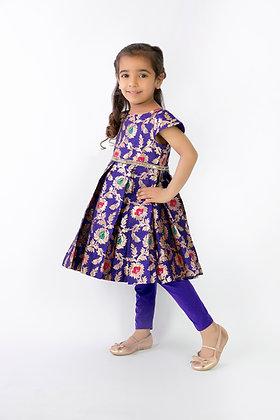 Purple jacquard dress