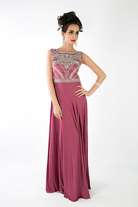 Jersey embellished gown