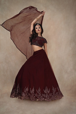The Plum Beaded lehenga