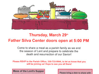 A Parish Family Meal!  RSVP Today!
