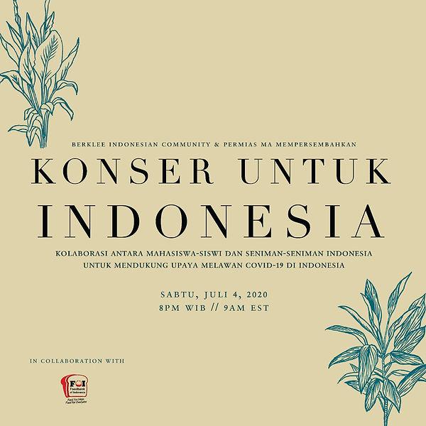 Konser Untuk Indonesia Infomation