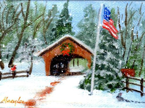 Snowy Covered Bridge #3