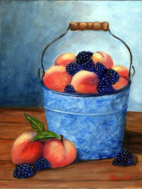 Pail of Peaches-n-Blackberries