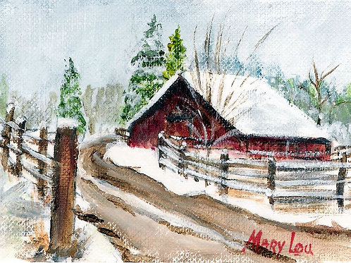 Winter Barn #9