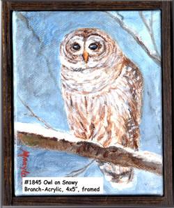 18-45Owl-on-a-Snowy BranchAcrylic-4x5in