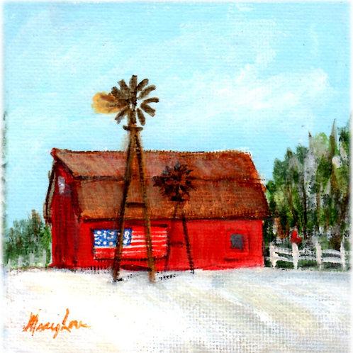 Flag Barn and Windmill