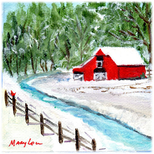 Red Barn by aSnowy Creek