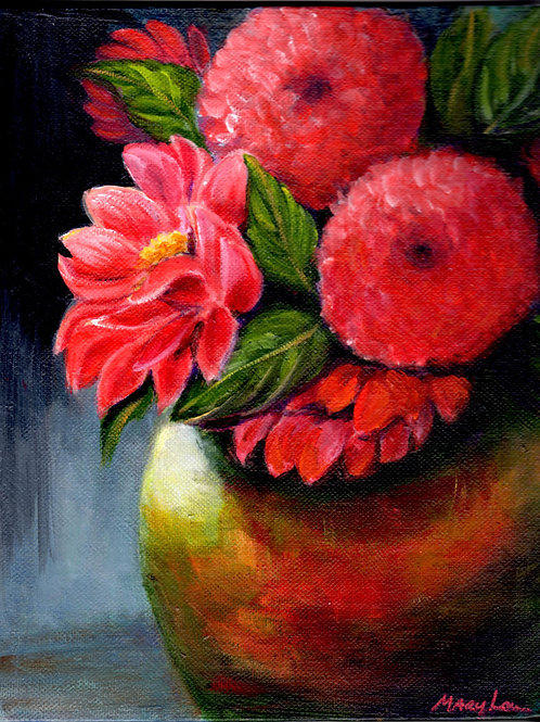 Pinks in a Vase