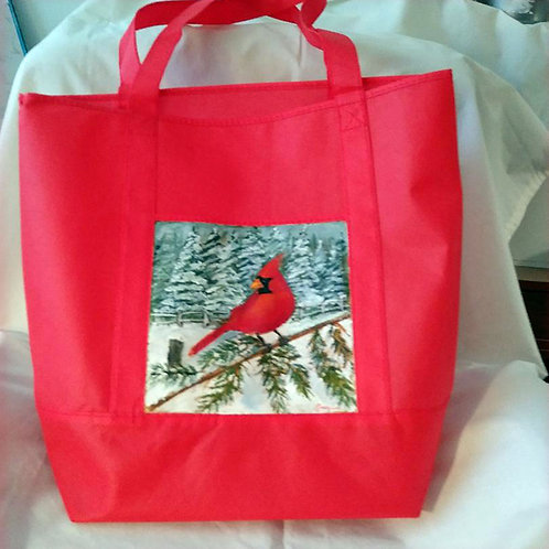 Cardinal on Snowy Branch