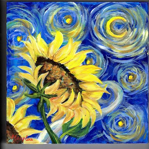 VanGoghish Sunflowers