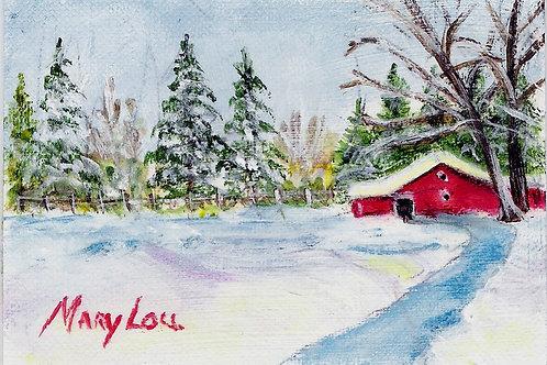 Winter Barn #8
