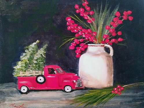 Little Red Truck & Berries