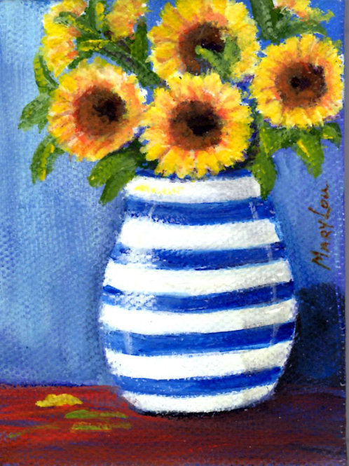 SF in Blue-White Vase