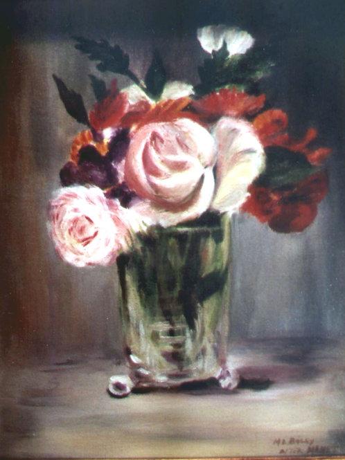 Roses in a Vase (after Manet)