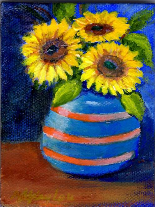 SF in Blue-Orange Vase