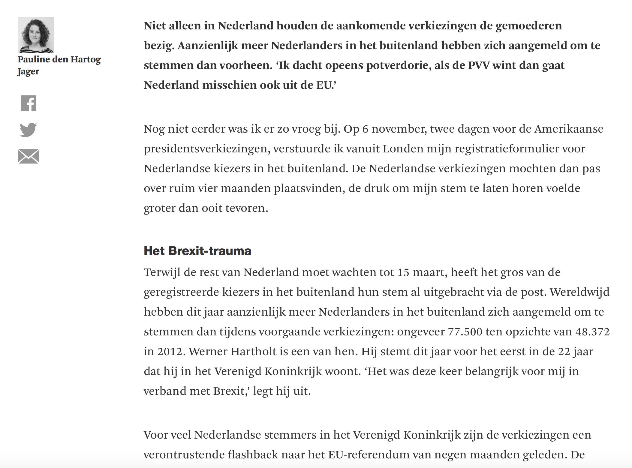 Verkiezingsstress - Vrij Nederland