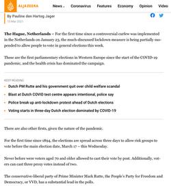 Al Jazeera: Dutch elections feature
