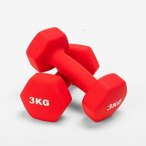 Mancuernas De Vinilo 3kg / 6 Kg Total Fitness Nuevo Oferta