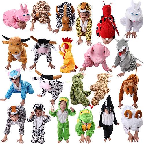 Disfraz traje animales niños