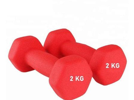 Mancuernas Vinilo 2 Kg / 4 Kg Total Fitness Entrenamiento Fit