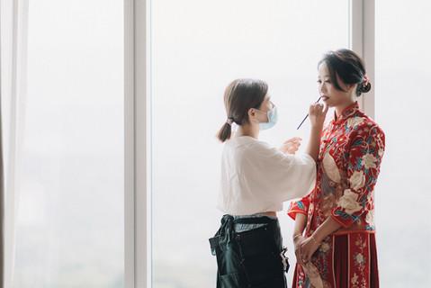 楓凌小徑 婚禮紀錄 婚攝 早妝 六福萬怡