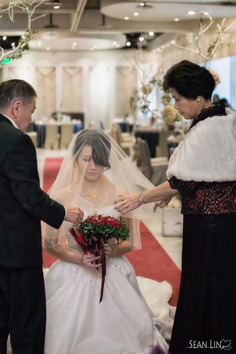 楓凌小徑/台北婚攝/婚禮記錄/拜別/蓋頭紗/Wedding Day