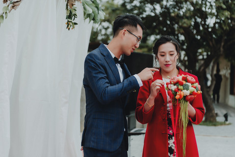 楓凌小徑|婚禮紀錄|婚攝|捧花|將軍村