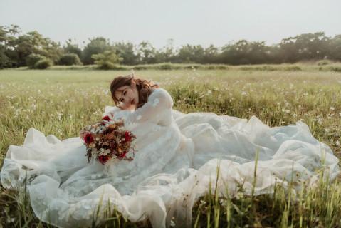 楓凌小徑 自助婚紗 逆光