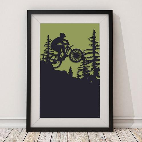 Mountain Biker Print