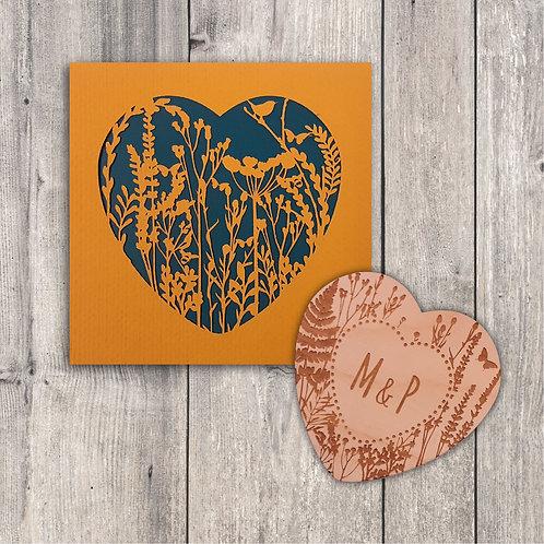 Wild Flower Heart Gift Set