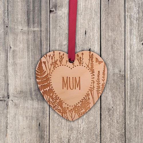 Mum/Mam hanging decoration