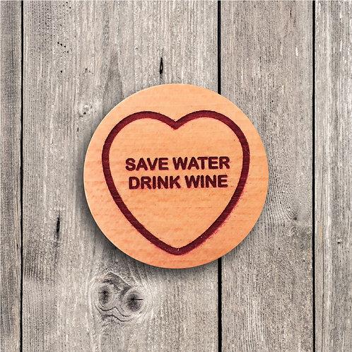 Save Water, Drink Wine Fridge Magnet