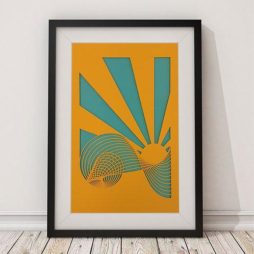 Sunshine Wave Print