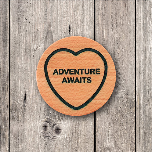 Adventure Awaits Fridge Magnet