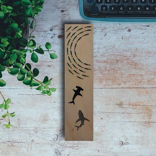 Ocean Wooden Bookmark