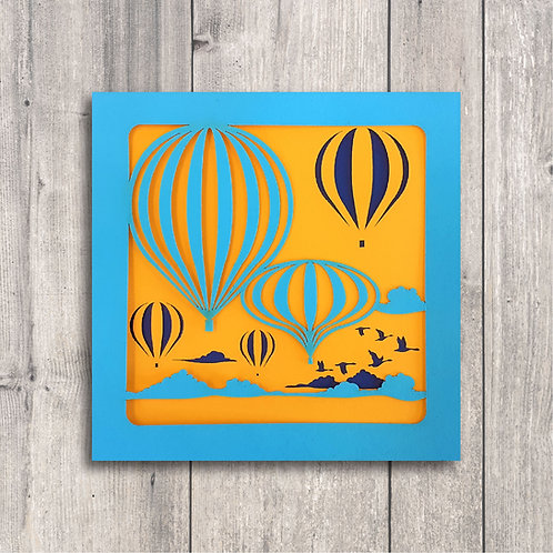 Concertina Cards: Hot Air Balloons
