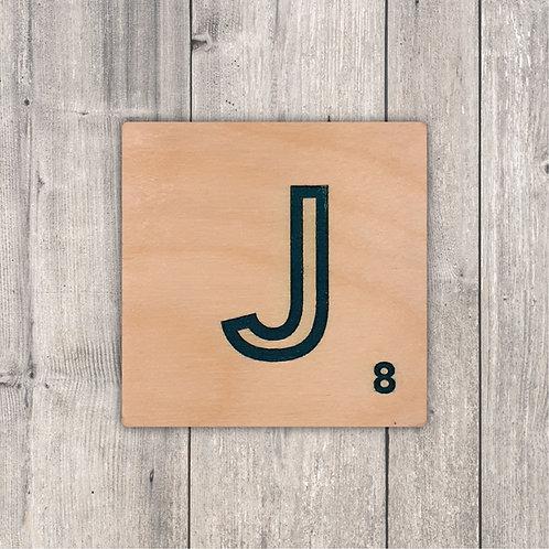 Scrabble Alphabet Fridge Magnet - Stripe Design