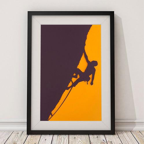 Rock Climber Print