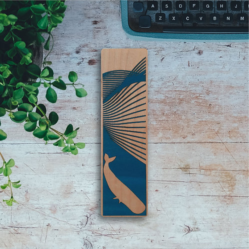 Ocean Wooden Bookmark