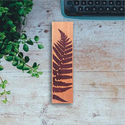 Fern Wooden Bookmark
