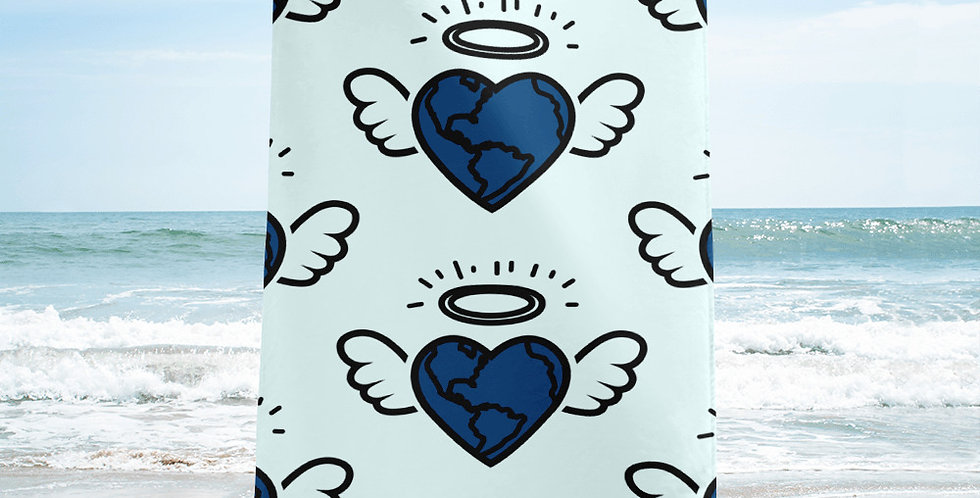Global Angel Beach Towel