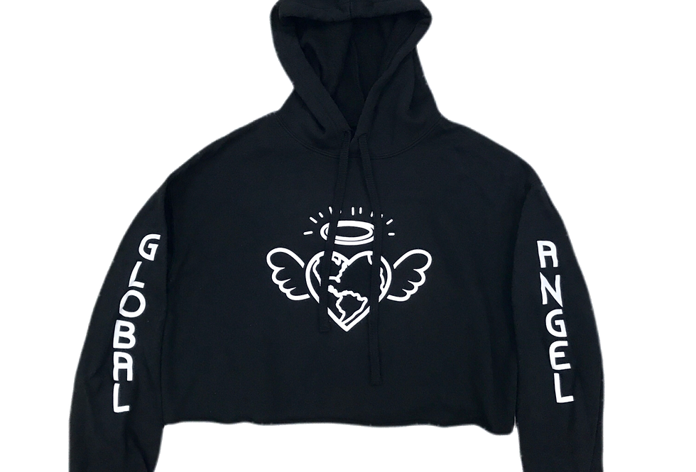 Heart  On Your Sleeve Cropped Hoodie