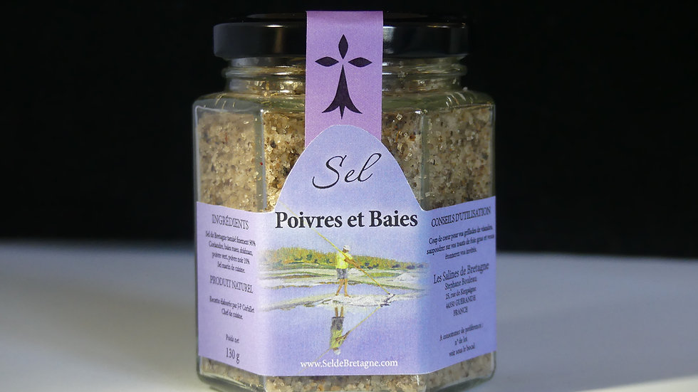 Sel de Bretagne Poivres & Baies 130g