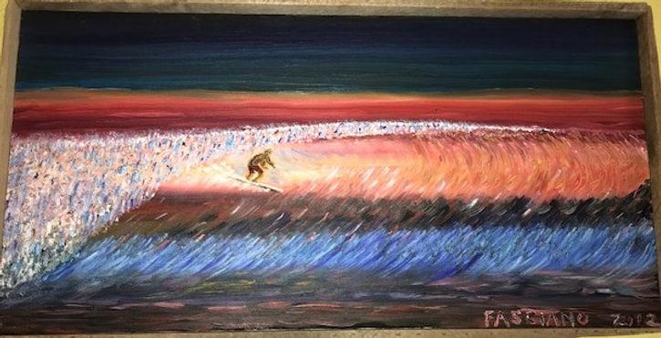Painting Sunrise Surfing