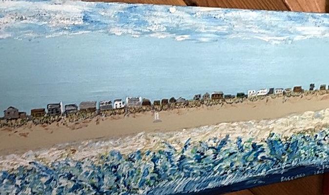 Painting Fire Island Beach