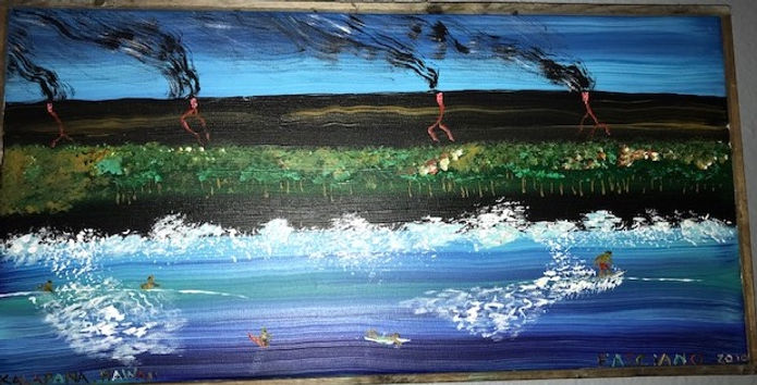 Painting Surf and Lava Hawaii